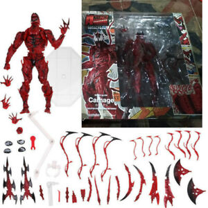 Marvel Carnage Red Venom No. Revoltech Series Action Figure Toy Gift Collectible