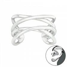 925 Sterling Silver Criss Cross Ear Cuff - Boxed