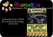 Iron on embroidered  Assistance dog Patch  8.5x12.5cm