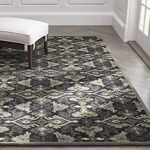 New Brand Black Rug Contemporary Style Wool Handmade  Area RUGS & Carpet