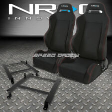 NRG 2 TYPE-R RED STITCHES  RACING SEATS+LOW MOUNT BRACKET FOR 97-04 CORVETTE C5