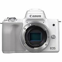 CANON Mirrorless Digital Camera EOS Kiss M Body Only White EMS w/ Tracking NEW