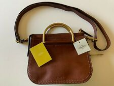NEW Fossil Ryder Mini ZB7660200 Leather Satchel Crossbody Purse BROWN $198