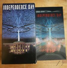 Independence Day (1996, VHS) w/Lenticular Cover Card Pullman Will Smith Vintage
