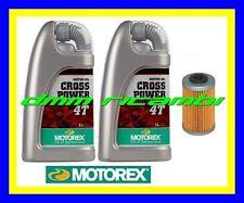 Kit Tagliando KTM 450 EXC-F 14>15 Filtro Olio MOTOREX CrossPower 10W60 2014 2015
