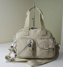 Kipling HB3170 Creme Beige Defea Satchel Handbag