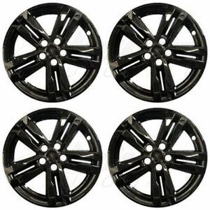 """18"""" Gloss Black Wheel Skins Hubcaps (Set of 4) FOR 2020 2021 Ford Explorer XLT"""