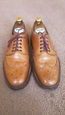 Loake 1880 Brogues Chester Size 8F Tan / Brown Leather RRP£235 Designer shoes