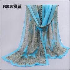 New Fashion Women Ladies Chiffon Scarf Plum Blossom Soft Wrap Long Shawl