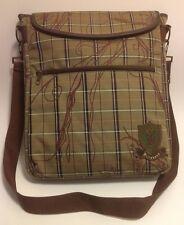 Billabong Vertical Crossbody Messenger Bag~Laptop~Plaid