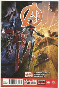 Avengers v5 #5 NM Apr 2013 Origin Smasher Captain America Hulk Wolverine IronMan