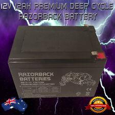 BRAND NEW 12V 12Ah Premium Deep Cycle RAZORBACK Battery for UPS, Solar, Alarm**