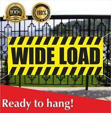 Wide Load Banner Vinyl Mesh Banner Sign Truck Trailer Van Vehicle Road Traffic