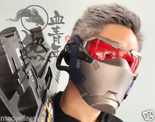 Overwatch Soldier 76 Mask with LED BAR 1:1 Replica Cosplay Prop OW Game Weapon