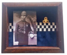 Medium Police Medal Display Case With Photograph. For 1 Medal
