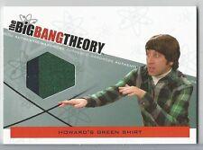 Big Bang Theory Season 3 & 4 Howard Wolowitz Green Shirt Wardrobe Relic M-11