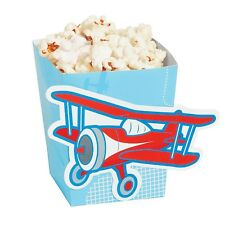Airplane Birthday Party Mini Treat Lolly Favour Snack Popcorn Boxes Pack of 24