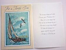 1 Birthday Greeting Card/Envelope Son Child Step Proud Terrific Adult Love Happy