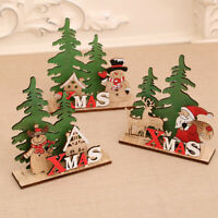 Christmas Wooden Santa Sleigh Xmas Tree Ornament Party Home Table Decoration Toy