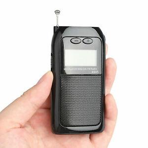 Portable Digital FM AM SM Radio Mini Pocket Walkman Receiver Stereo w/ Earphones