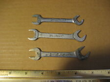 Lot of 3 Vintage Blue Point Wrenches USA C-2428 C-2824 C-2220