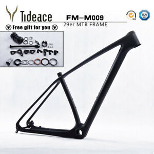 2019 29er Tideace Carbon Fiber Mountain Bicycle Frames OEM PF30 MTB Bike Frames