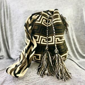 Authentic 100% WAYUU Mochila Colombian Bag LARGE MED SMALL Size