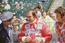 CLAY REGAZZONI & Teddy Yip Indianapolis 500 Ritratto Fotografia 1977 2