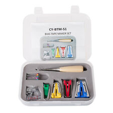 17pcs Sewing Accessories Fabric Bias Tape Maker Kit Set in Case for Quilting