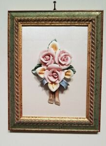 Painting Of Capodimonte with Frame Gold Leaf Baroque 11x8 11/16in