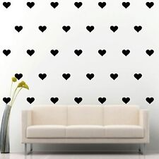 "90 of 4"" Black Heart DIY Removable Peel & Stick Wall Vinyl Decal Sticker"