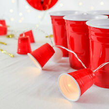 Festive Lights 1.35m Battery Power Beer Pong Red Solo Cup Mini LED Fairy Lights