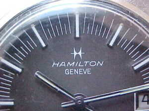 Vintage Stainless Steel Hamilton Automatic Quickset ref. 822009-3 SS Signed Band
