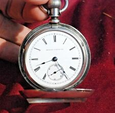 1886 Illinois,  18S 11J, Coin Silver CaseTransition Key/Stem Wind Pocket Watch