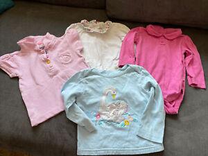 JoJo Maman Bébé Baby Girls Bodysuit Top Bundle - Size 6-12 Months