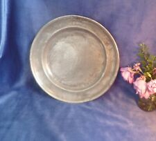 More details for early victorian large pewter charger/plate-marked 1841