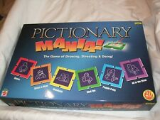 Mattel Games Pictionary Mania! Game 2005.The Game of Drawing Directing & Doing