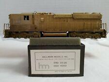 VTG HALLMARK HO BRASS EMD SD-24 HIGH HOOD - UNPAINTED w/ORIG. BOX - TESTED, RUNS