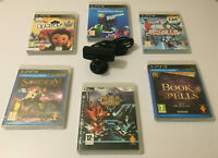 Ps3 Camera with 6 games,Eye pet,book of spells,sorcery.sports champion,starter