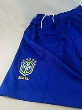 Unbranded Brasil National Team Shorts Royal Blue Sz YM