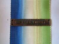 WW2 AIR CREW EUROPE BAR CLASP for ATLANTIC STAR MEDAL RIBBON ROYAL NAVY