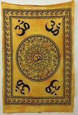 Om Chakra Religious Sign Wall Hanging Handmade Cotton Tapestry Poster Small Art