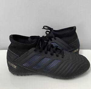 Adidas Turf Predator 19.3 Unisex-Child Soccer Shoe Size 5 Black on Black