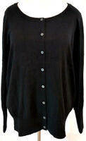 Lane Bryant Womens Plus Size 18 20 Cardigan Sweater Black Long Sleeve Classic