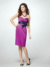 Alfred Angelo 7122 Size 8 Violet Purple Navy Blue Formal,Bridesmaids Dress NWT