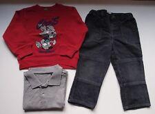 Lote niño: sudadera, pantalón de pana y polo. Talla 2 años