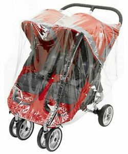 RAIN COVER TO FIT BABY JOGGER CITY MINI DOUBLE WITH ZIP MADE IN UK QUALITY PVC