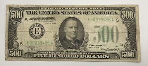 1934 A $500 Federal Reserve Richmond Virginia Note