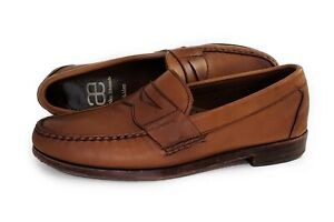 AE Allen Edmonds Walden Loafers Brown Leather Size