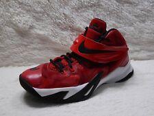 Nike LeBron Soldier VIII 8 Boys Youth Sz 7Y Red Basketball black   FREE S&H